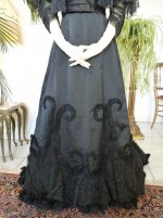 5 antique Worth evening dress 1898