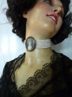Antique Choker, antique jewellery, antique jewelry, Georgian jewellery 1770, Choker, rococo jewellery 1780, rococo choker
