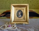 2 antique miniature portrait 1770