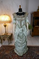 2 antique evening gown 1889