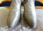 5 antique gold lamee boots 1920