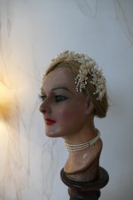 6 antique wax head piece 1920