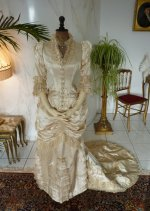 18 antique bustle wedding gown 1879