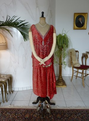 antique flapper dress Worth 1920