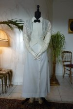 9a antique tennis dress 1910