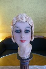 1 antique hair cloche 1920