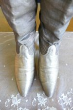 4 antique gold lamee boots 1920