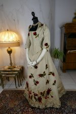 17 antique bustle dress 1880