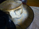 104 antique lampshade hat 1912