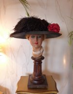 antique hat, hat 1910, hat 1912, edwardian hat, Titanic Era Hat, antique Ascot hat, My fair lady hat