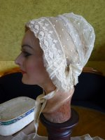 11 antique wedding bonnet 1840