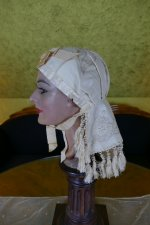4 antique wedding bonnet 1870