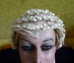 4 antique wedding bonnet 1850