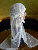 11 antique wedding cap veil 1920