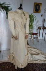 18 antique wedding Gown 1895
