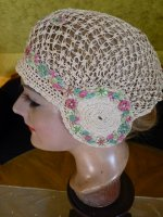8 antique boudoir cap