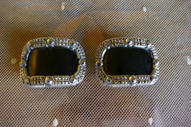 antique shoe buckles 1860
