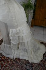 81 antique bustle Overgown 1880