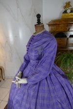 10 antique crinoline dress 1860