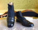 10 antique mens high button shoes