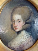 1 antique miniature portrait 1770