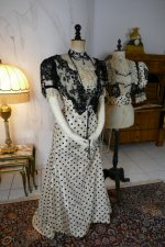 2 antique evening dress 1899