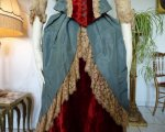 8 antique Ball gown 1876