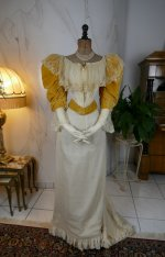 23 antique evening dress 1895
