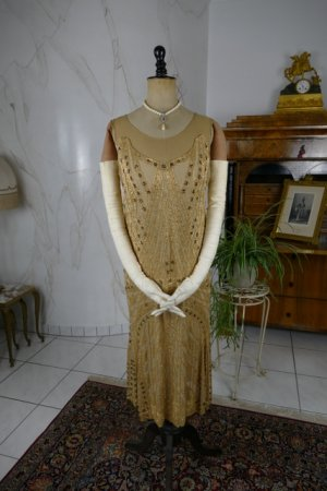 antique beaded flapper evening dress 1922