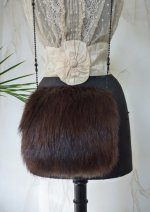 antique muff, antique fur muff, muff 1910, muff from Berlin, antique dress, antique gown, antique fur