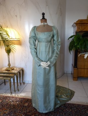 antique silk dress 1800