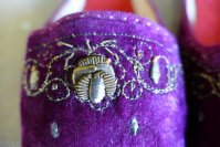 3 antique boudoir slippers 1885 1900