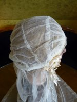 12 antique wedding cap veil 1920