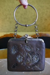 antique leather bag 1906