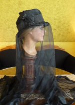 12 antique mourning hat 1910