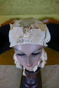 1 antique wedding bonnet 1870