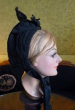 13 antique mourning bonnet