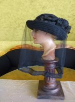 7 antique mourning Hat 1905
