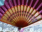 1 antique folding fan 1905