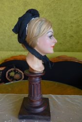 antique mourning bonnet