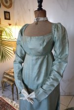 3 antique silk dress 1800