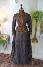 2 antique bustle gown