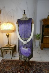 antique BABANI evening dress 1925