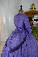 19 antique crinoline dress 1860