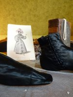 11 antique romantic period boots 1930