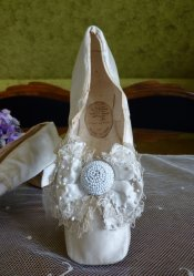 antique wedding shoes 1855