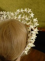 15 antique wax wedding tiara