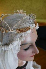 10 antique wax head piece 1920