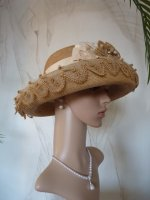 antique hat, hat 1910, hat 1912, summer hat 1910, antique dress, antique gown, antiek hoeden, edwardian hat, antique strow hat