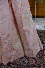 13 antique Rousset Paris society dress 1899